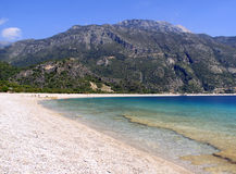 Oludeniz Beach View. This is the most popular beach visited by British tourists in Turkey royalty free stock photography