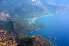 Oludeniz en la costa mediterránea de Turquía imagen de archivo libre de regalías