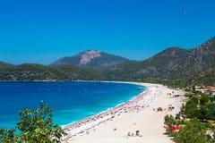 Oludeniz in Fethiye die Türkei stockbilder
