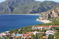 Oludeniz holiday complex Royalty Free Stock Image