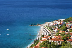 Oludeniz holiday complex Royalty Free Stock Photos