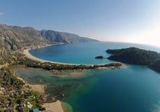 Oludeniz litoral, Fethiye, Turquia Imagens de Stock Royalty Free