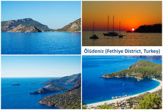 Oludeniz, a popular beach resort in Fethiye district on the Turquoise Coast of Turkey Stock Photography