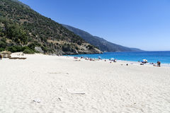 OLUDENIZ, TURKEY - JUNE 04: Tourists visit Oludeniz beach, Turkey Stock Photography