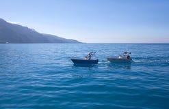 Salvor man on salvage ship over calm sea, Turkey Royalty Free Stock Photos