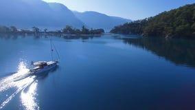 Oludeniz Turkey. Aerial Views in Blue Lagoon stock footage