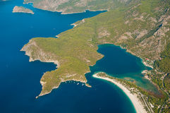 Oludeniz view from parachute Stock Images