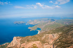 Oludeniz view from parachute. Royalty Free Stock Images