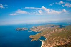 Oludeniz view from parachute, Fethiye Stock Photos