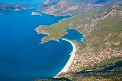 Oludeniz view from parachute, Fethiye Royalty Free Stock Photo