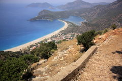 Oludeniz viewed from the Lycian Way Royalty Free Stock Image