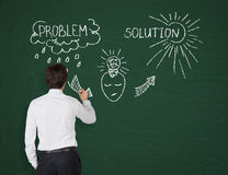 Olution and problem Royalty Free Stock Photo