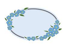 Olvídeme marco no floral imagen de archivo
