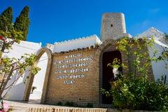 Olvera Cadiz landskap, Andalusia, Spanien - mars 25, 2008: den lilla kyrkogården Royaltyfri Bild