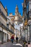 Olvera Cadiz landskap, Andalusia, Spanien - mars 25, 2008: gå som upp till går den Parroquia de Nuestra Señora de laEncarnacià ³ Royaltyfria Bilder