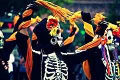 Olvera-Straßenfest Halloween Okt stockfoto