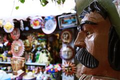 Olvera Straatmarkt in Los Angeles Stock Foto's