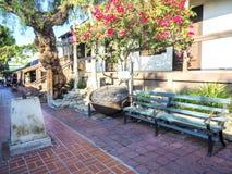 Olvera Street Bench, garden and decoration - Los Angeles, LA, California, CA. USA Royalty Free Stock Photos