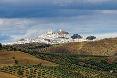 Free Olvera White Village In Cadiz Province, Andalucia, Spain Royalty Free Stock Images - 186084179