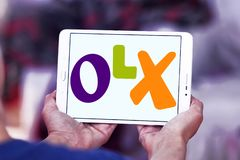OLX-marknadsplatslogo Arkivfoto