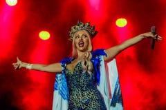 Olya Polyakova歌手 免版税库存图片