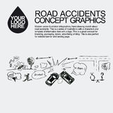 olycka bruten bilchaufförfokus nära reflekterande varning för vest för vägsäkerhetstriangel Den bil kraschade händelsen Arkivbilder