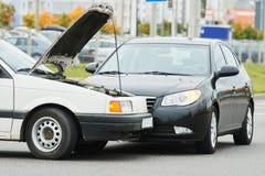 Olycka för bilkrasch på gatan Royaltyfria Foton