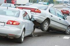 Olycka för bilkrasch på gatan Royaltyfri Foto