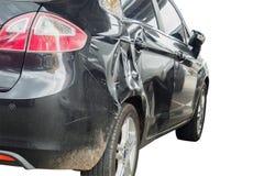 Olycka för skada för bilkrasch som isoleras på vit Royaltyfria Foton