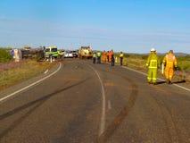 Olycka med avbrottsfläckar i Pilbaraen, västra Australien royaltyfri fotografi