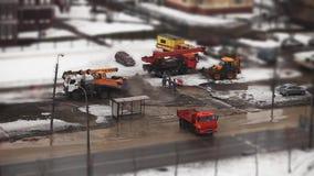 Olycka på rörledningen stock video