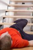 Olycka på trappan Arkivbilder