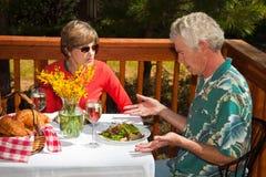 olycklig gästrestaurang Royaltyfri Fotografi