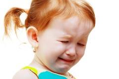 Olycklig liten flicka Arkivfoton
