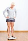 Olycklig skalakvinna Fotografering för Bildbyråer
