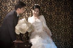 olyckliga par gifta sig Royaltyfria Bilder