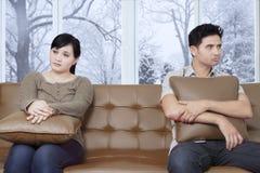 Olyckliga par som har problem Royaltyfri Foto