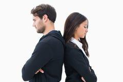 Olyckliga par som inte till varandra talar Royaltyfria Bilder