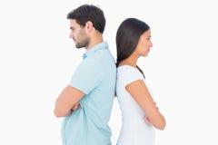 Olyckliga par som inte till varandra talar Royaltyfri Fotografi