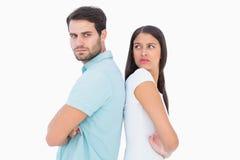 Olyckliga par som inte till varandra talar Royaltyfri Foto