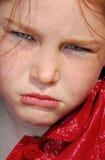 olyckligt barn för flicka Royaltyfri Bild