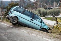 olycksbilförsäkring Fotografering för Bildbyråer