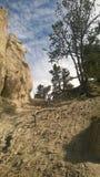 Olycksbringare för pilbågedalbanff berg Arkivbild