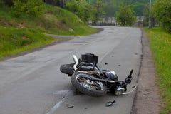 olycksmotorbike Royaltyfri Fotografi