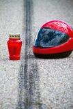 olycksmotorcykeltrafik Royaltyfria Bilder