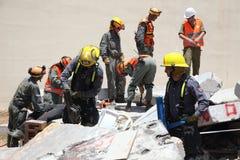 Olycksoffer för attack för fångvaktareräddningsaktionraket i Carmel Prison royaltyfri foto