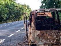 Olycksskåpbil Arkivbild