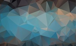 Olygonal abstract background consisting of triangles blue color.  royalty free illustration