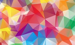 Olygonal abstract background consisting of triangles blue color.  stock illustration