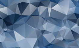 Olygonal abstract background consisting of triangles blue color Royalty Free Stock Photos